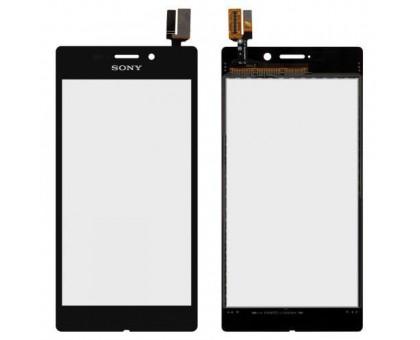 Тачскрін (сенсор) для Sony D2403 Xperia M2 Aqua, чорний